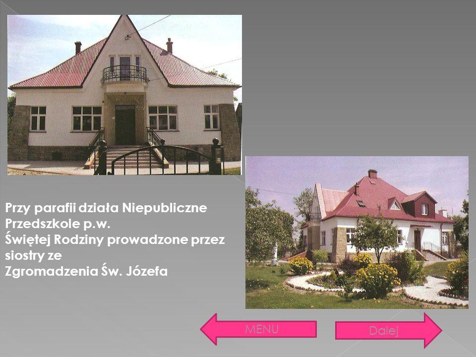 Przy parafii działa Niepubliczne Przedszkole p.w. Świętej Rodziny prowadzone przez siostry ze Zgromadzenia Św. Józefa MENU Dalej