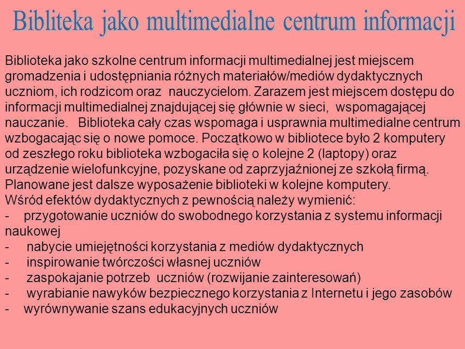 Szkolny konkurs poezji patriotycznej organizowanej przez bibliotekę i polonistkę.