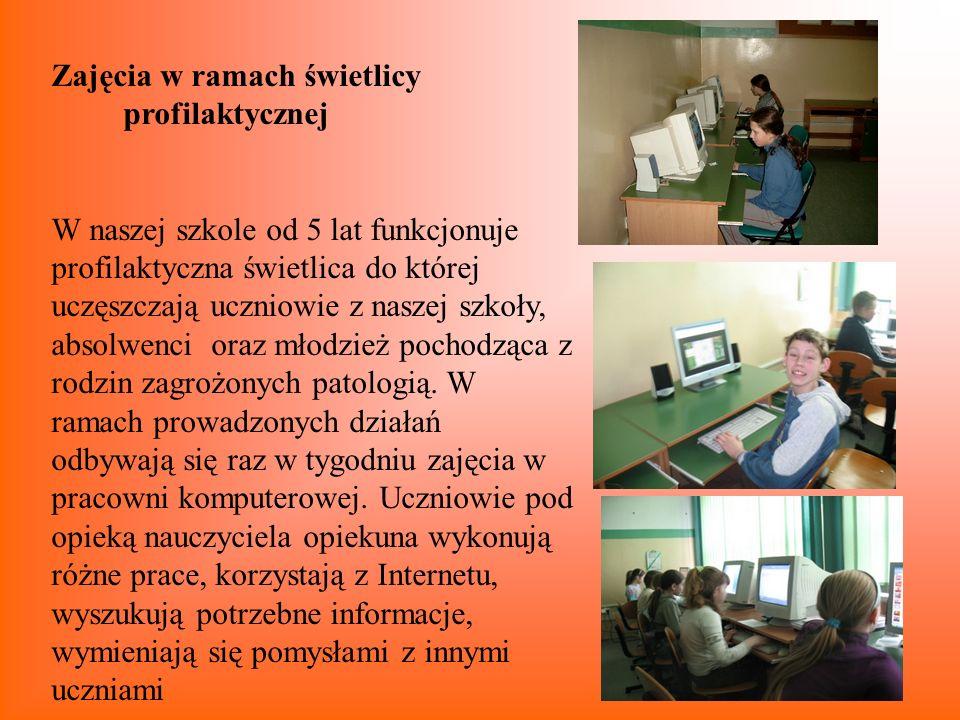 Zajęcia w ramach świetlicy profilaktycznej W naszej szkole od 5 lat funkcjonuje profilaktyczna świetlica do której uczęszczają uczniowie z naszej szko