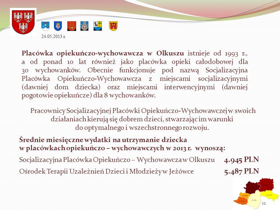 Placówka opiekuńczo-wychowawcza w Olkuszu istnieje od 1993 r., a od ponad 10 lat również jako placówka opieki całodobowej dla 30 wychowanków. Obecnie