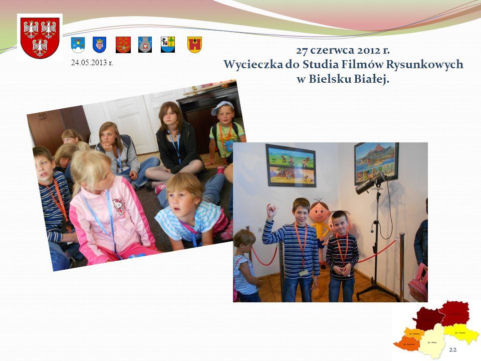 27 czerwca 2012 r. Wycieczka do Studia Filmów Rysunkowych w Bielsku Białej. 24.05.2013 r. 22