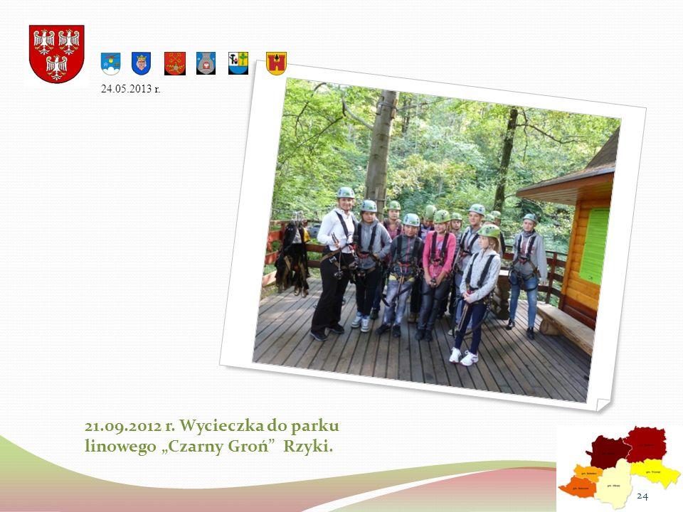 21.09.2012 r. Wycieczka do parku linowego Czarny Groń Rzyki. 24.05.2013 r. 24