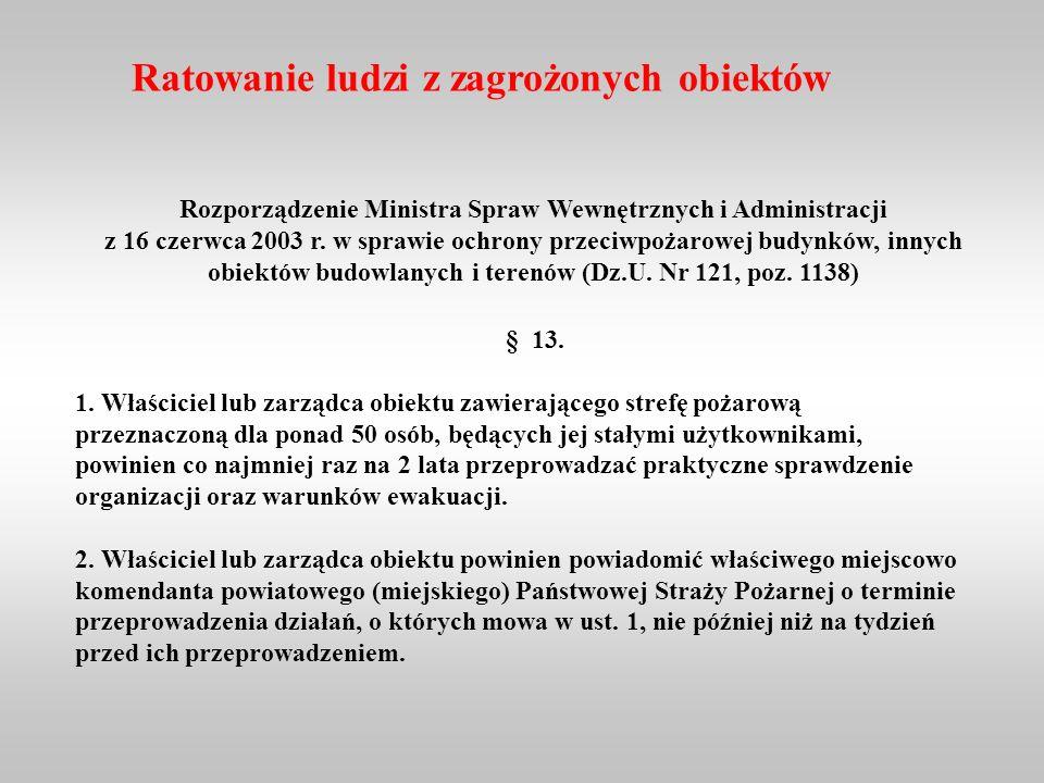Rozporządzenie Ministra Spraw Wewnętrznych i Administracji z 16 czerwca 2003 r.