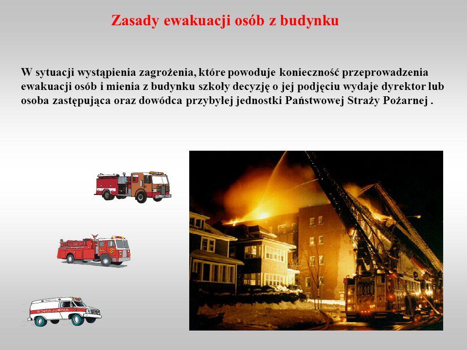 Co robić w przypadku, kiedy na skutek odcięcia dróg ewakuacyjnych przez silny, gęsty dym nie możemy wydostać się z budynku, w którym wybuchł pożar? Je