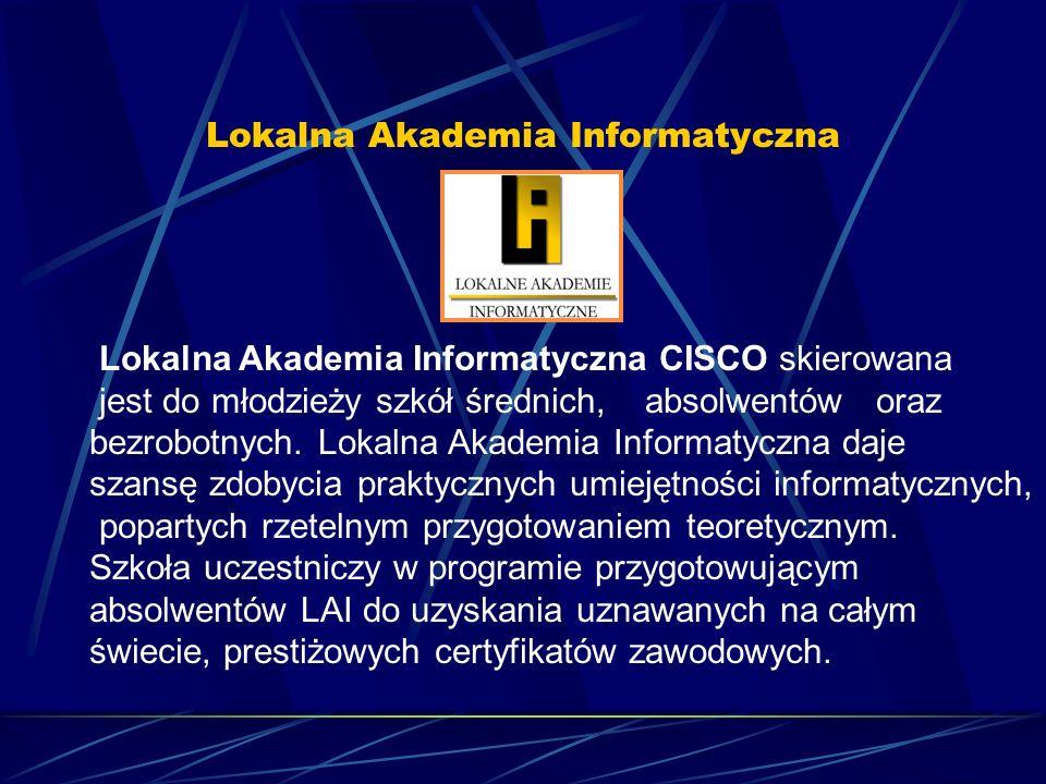 CISCO przygotowuje uczestników kursu do pracy w zawodzie związanym z sieciami komputerowymi (np.