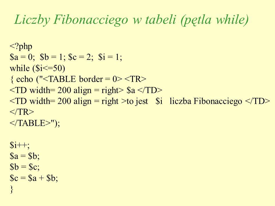 <?php $a = 0; $b = 1; $c = 2; $i = 1; while ($i<=50) { echo (