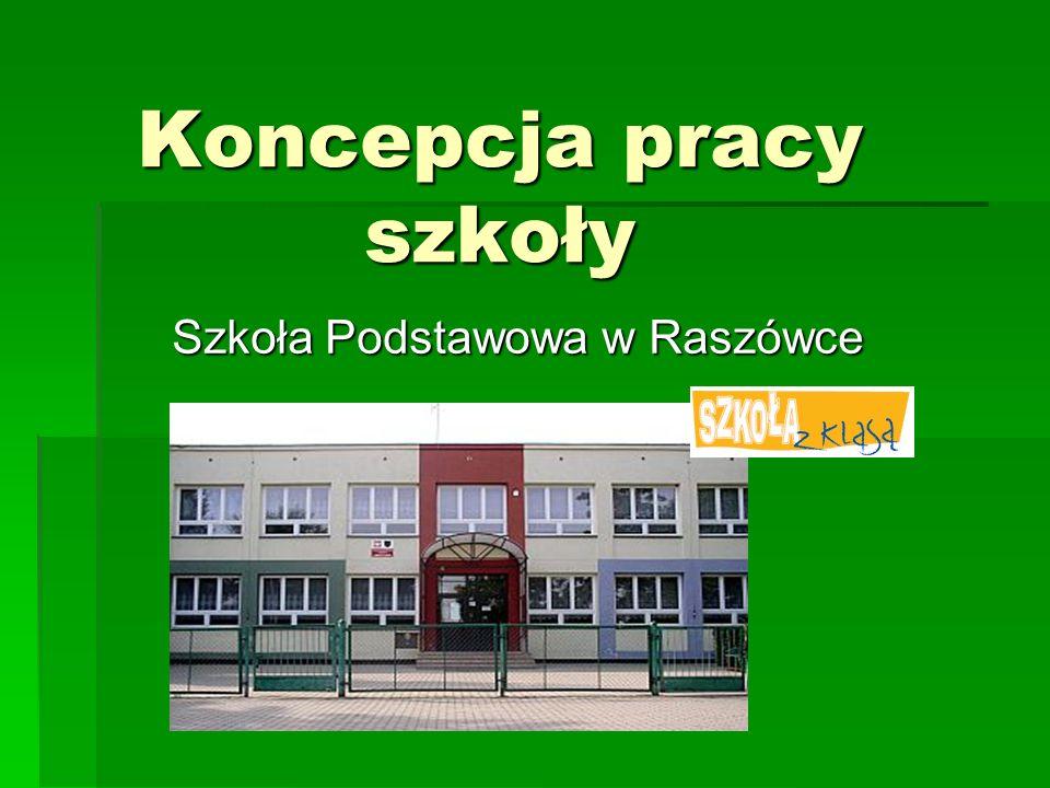 Koncepcja pracy szkoły Szkoła Podstawowa w Raszówce