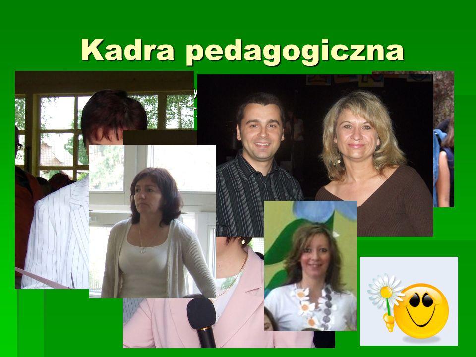 Kadra pedagogiczna -Mamy wyższe wykształcenie magisterskie z przygotowaniem pedagogicznym -Realizujemy stopnie awansu (9 dyplomowanch, 7 mianowanych)
