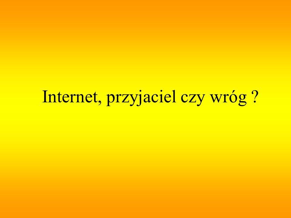 Internet- globalna, międzynarodowa; - sieć, - (dosłownie międzysieć) – ogólnoświatowa sieć komputerowa,która jest logicznie połączona w jednolitą sieć adresową opartą na protokole IP Sieć ta dostarcza lub wykorzystuje usługi wyższego poziomu, które oparte są na funkcjonowaniu telekomunikacji i związanej z nią infrastrukturze.
