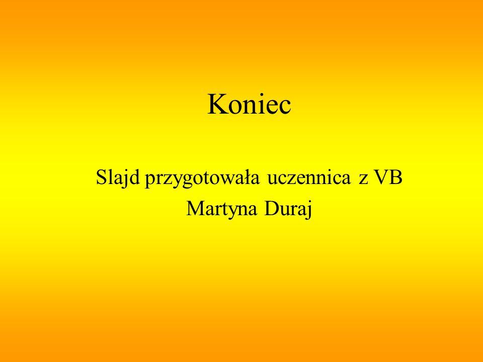Koniec Slajd przygotowała uczennica z VB Martyna Duraj