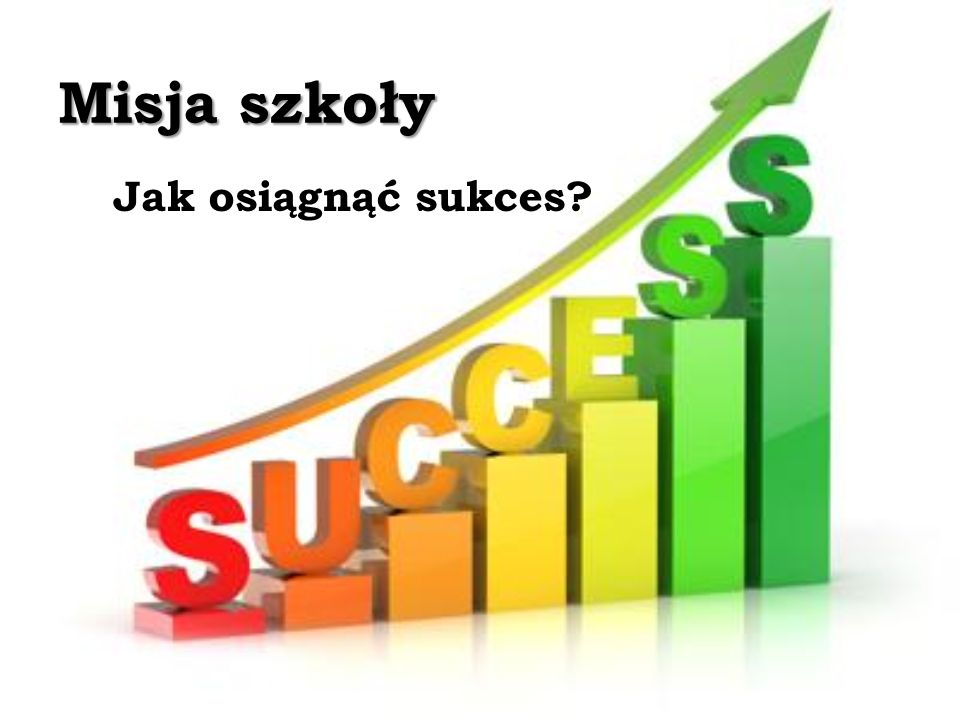 Misja szkoły Jak osiągnąć sukces?