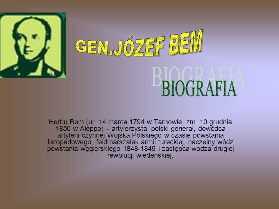 Herbu Bem (ur.14 marca 1794 w Tarnowie, zm.