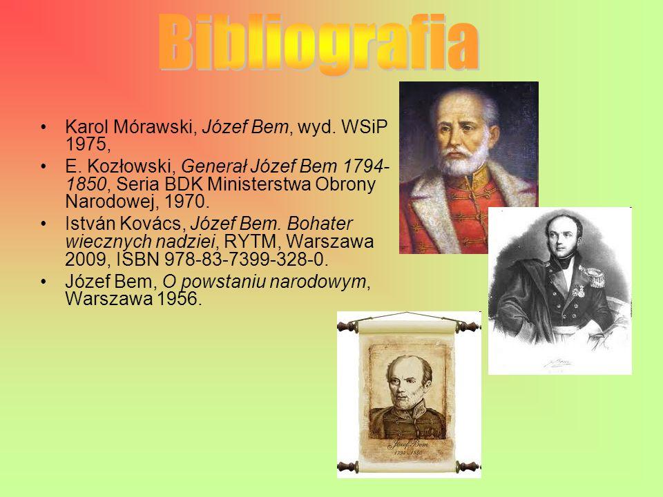 Karol Mórawski, Józef Bem, wyd.WSiP 1975, E.