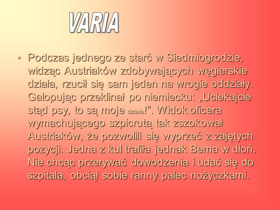Bohater narodu polskiego i węgierskiego Józef Bem opisywany przez historyka, poetę, pisarza i dyplomatę - to musiało wypalić.