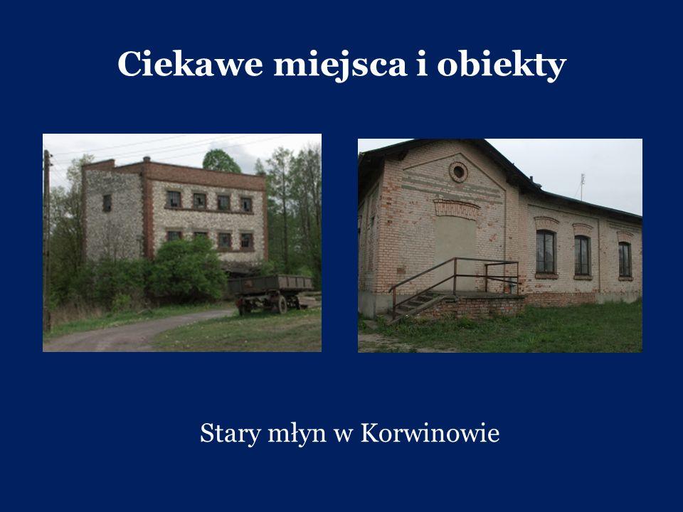 Ciekawe miejsca i obiekty Stary młyn w Korwinowie
