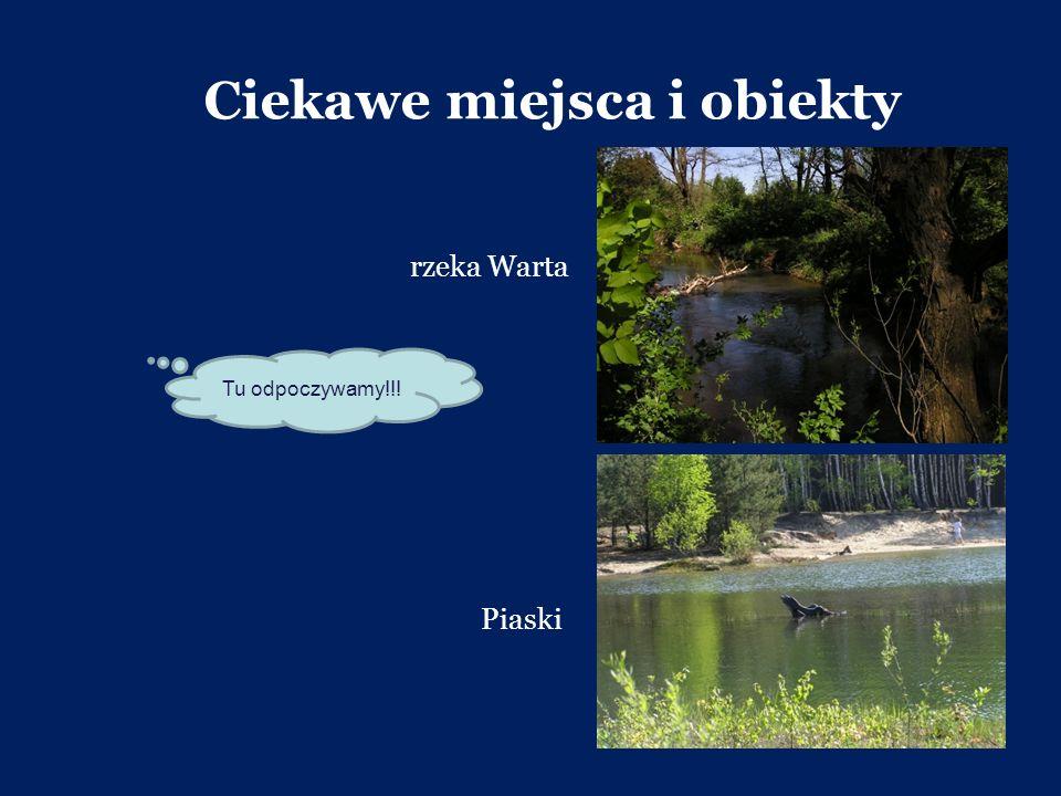 Ciekawe miejsca i obiekty Piaski rzeka Warta Tu odpoczywamy!!!