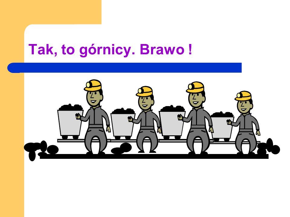 Tak, to górnicy. Brawo !