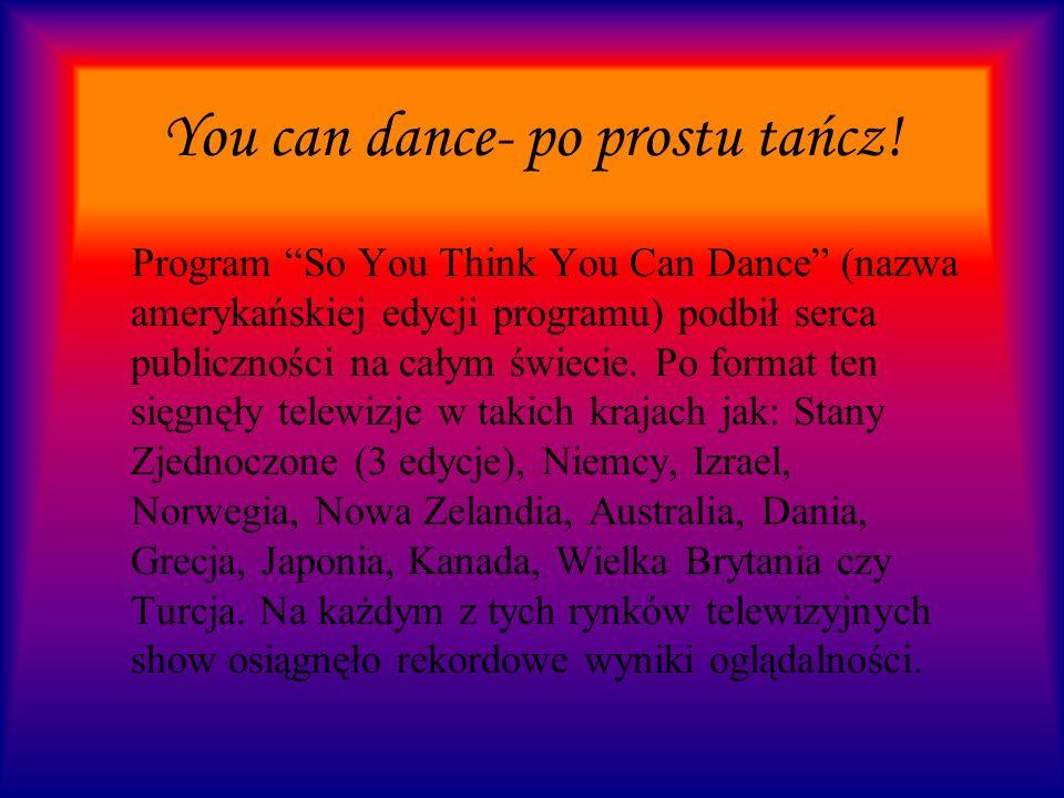 You can dance- po prostu tańcz! Aleksandra Zamojska Klasa V