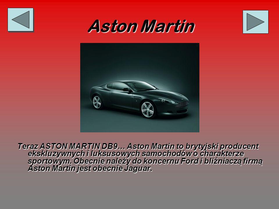 Aston Martin Teraz ASTON MARTIN DB9… Aston Martin to brytyjski producent ekskluzywnych i luksusowych samochodów o charakterze sportowym.