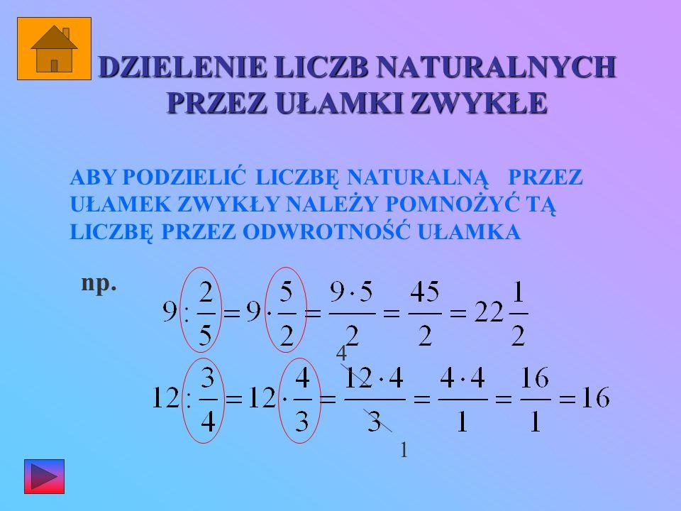 UŁAMKI ODWROTNE W ułamku odwrotnym do danego licznik staje się mianownikiem, a mianownik licznikiem. np. odwrotnością ułamka : jest Iloczyn ułamków (l