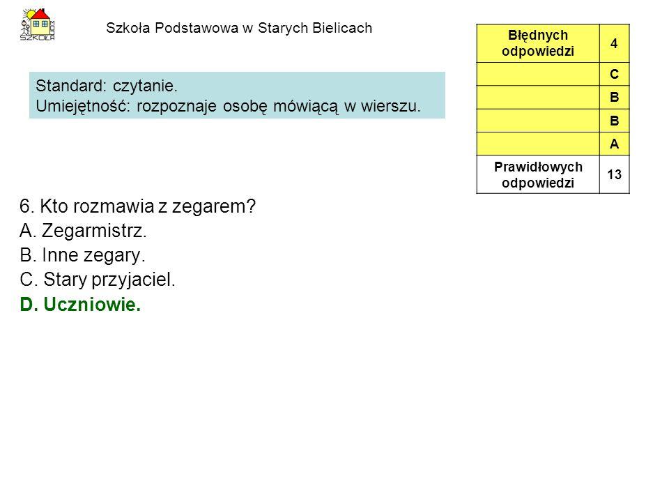 Szkoła Podstawowa w Starych Bielicach 6.Kto rozmawia z zegarem.