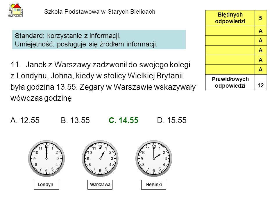Szkoła Podstawowa w Starych Bielicach 11.
