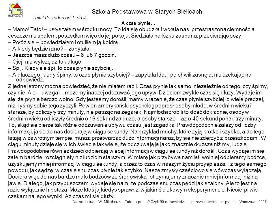 Szkoła Podstawowa w Starych Bielicach Rysunek i informacja do zadań od 10.