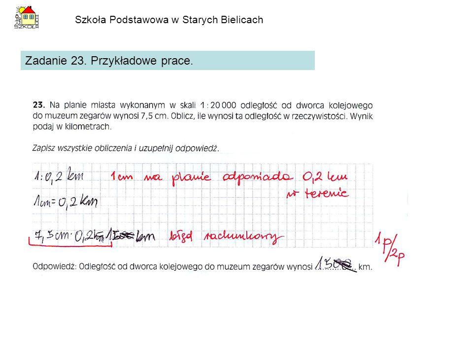 Szkoła Podstawowa w Starych Bielicach Zadanie 23. Przykładowe prace.
