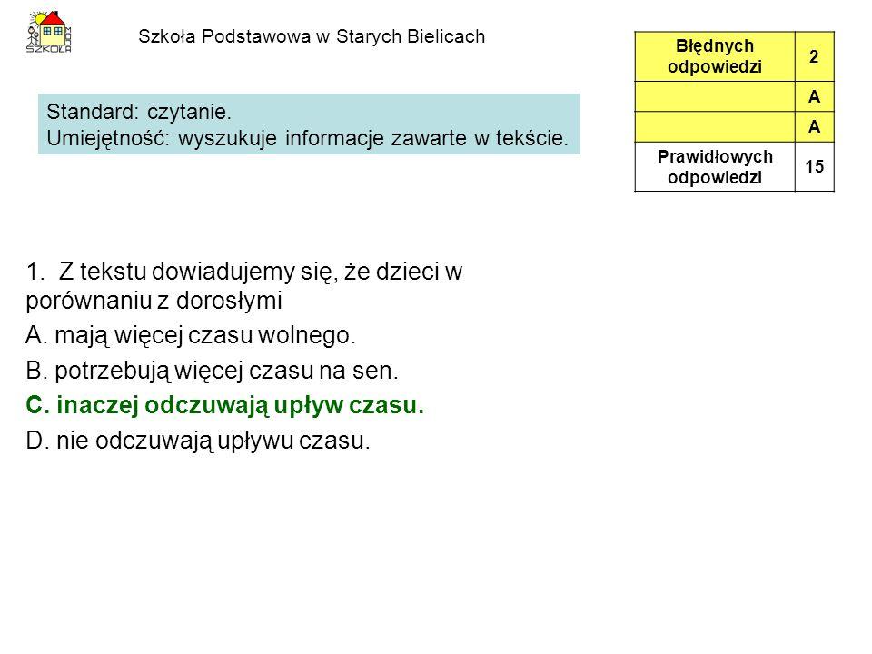 Szkoła Podstawowa w Starych Bielicach Informacja do zadań19.