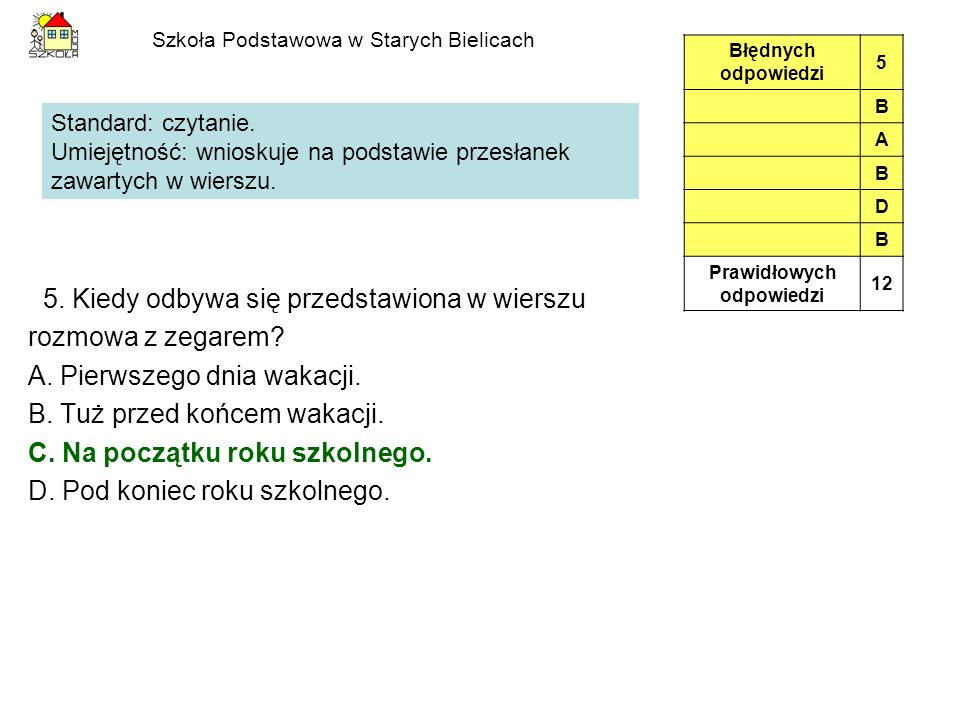 Szkoła Podstawowa w Starych Bielicach 14.Jacek będzie obchodził swoje 12.