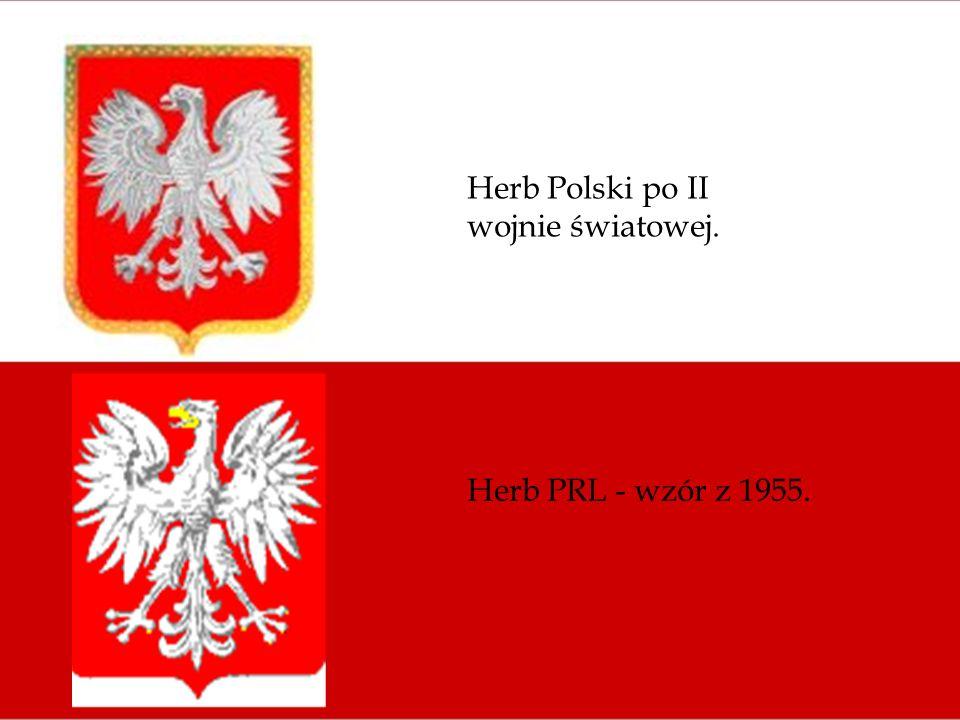 Herb Polski po II wojnie światowej. Herb PRL - wzór z 1955.