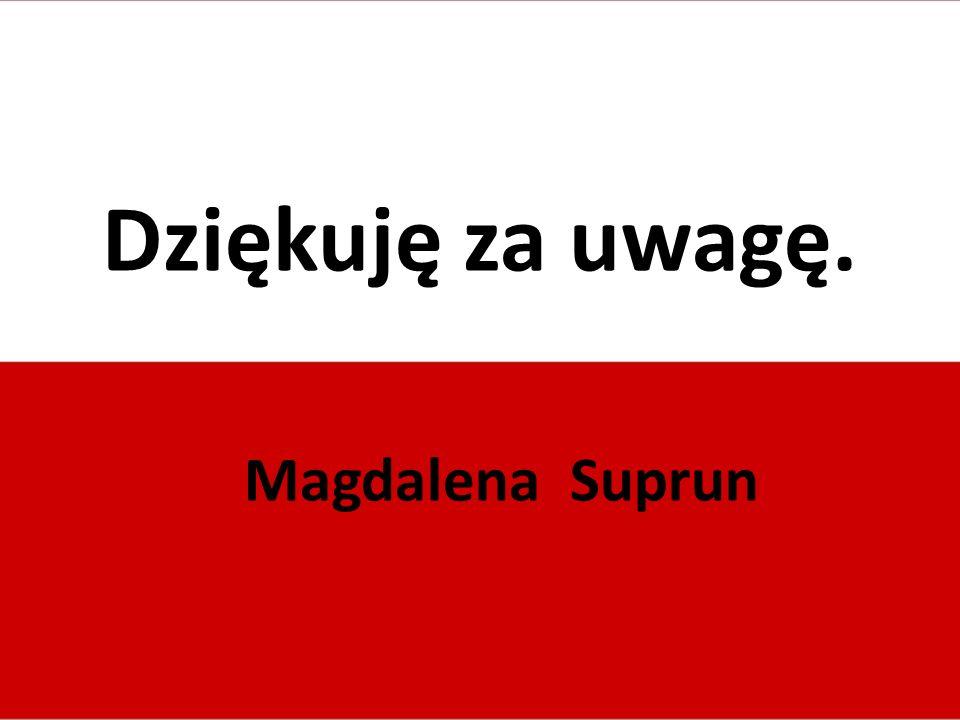 Dziękuję za uwagę. Magdalena Suprun
