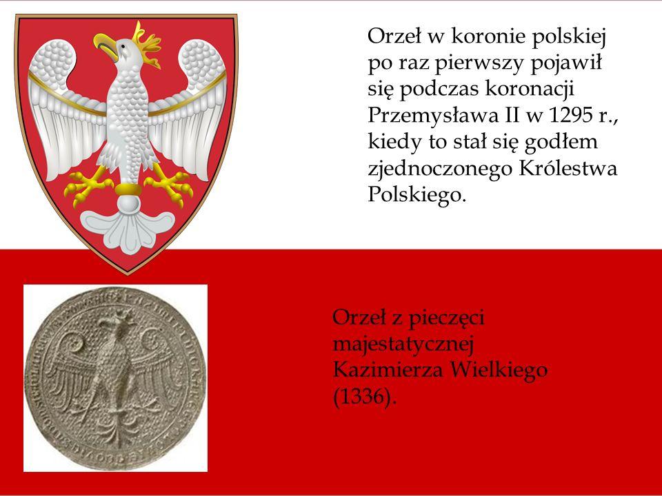 Orzeł w koronie polskiej po raz pierwszy pojawił się podczas koronacji Przemysława II w 1295 r., kiedy to stał się godłem zjednoczonego Królestwa Pols