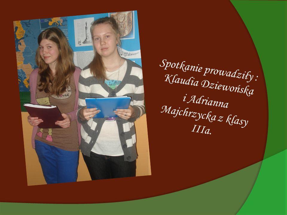 Ważnym elementem dyskusji była prezentacja przygotowana przez Kasię Brzozowską z klasy 3a.