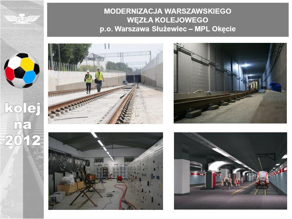 MODERNIZACJA WARSZAWSKIEGO WĘZŁA KOLEJOWEGO p.o. Warszawa Służewiec – MPL Okęcie