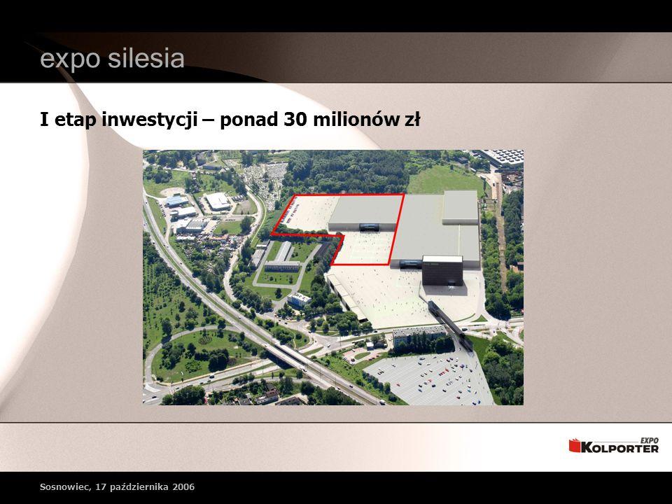 expo silesia I etap inwestycji – ponad 30 milionów zł Sosnowiec, 17 października 2006