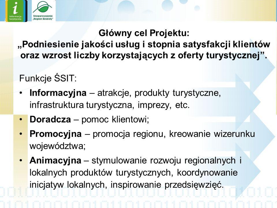 Obszar projektu Projekt ma charakter systemowy i swoim zasięgiem obejmuje teren całego województwa śląskiego; Docelowo całe województwo będzie pokryte równomiernie rozmieszczoną IT, o zróżnicowanych zakresach i różnym standardzie świadczonych usług.