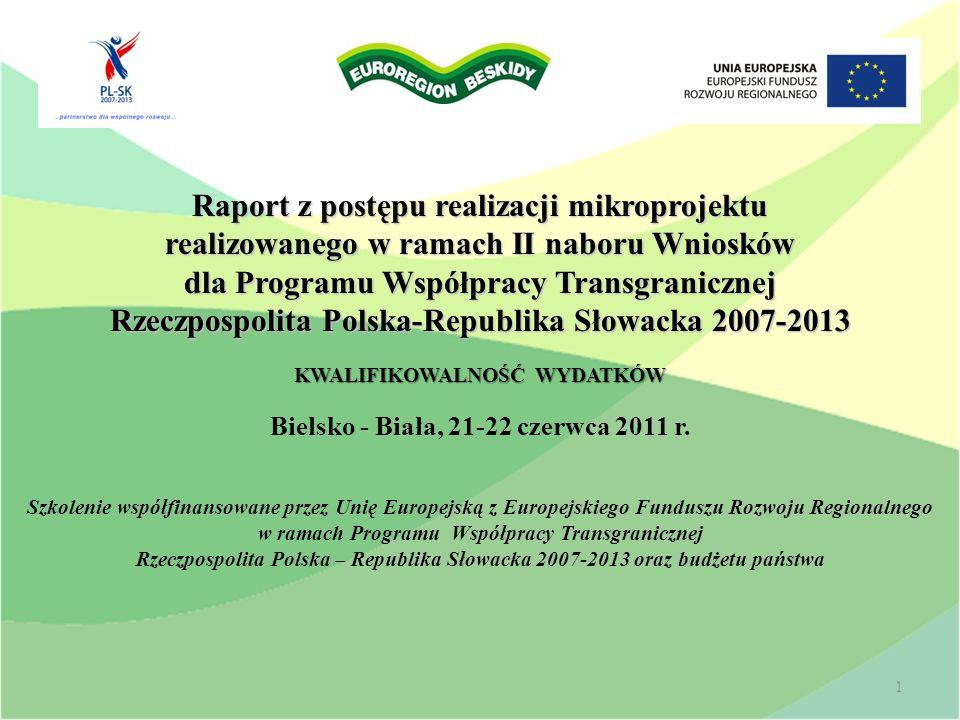Raport z postępu realizacji mikroprojektu realizowanego w ramach II naboru Wniosków dla Programu Współpracy Transgranicznej Rzeczpospolita Polska-Repu