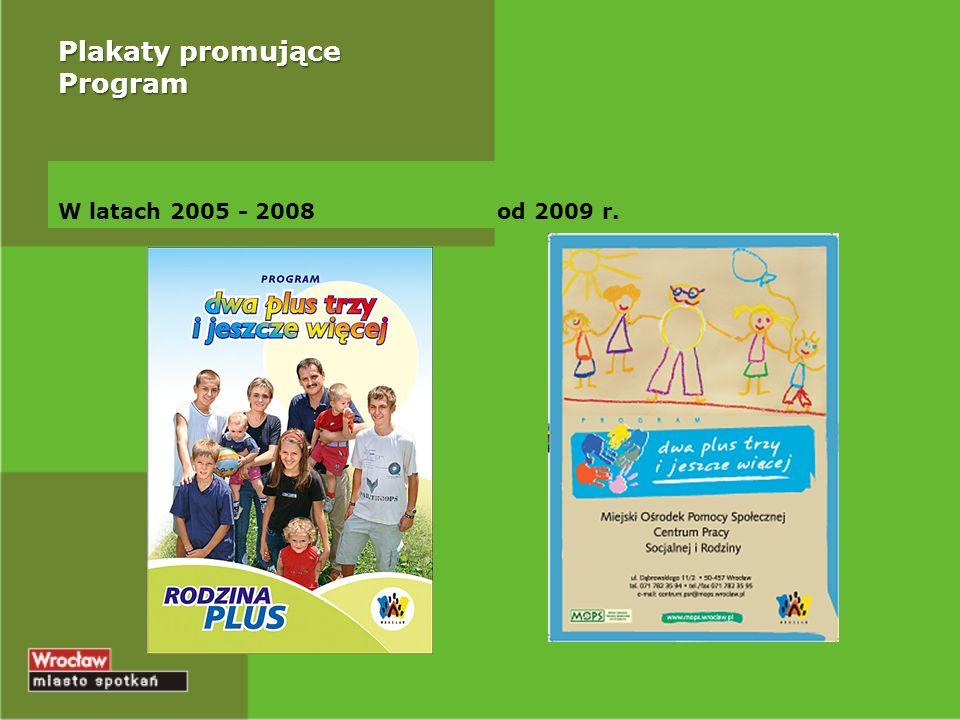 Plakaty promujące Program W latach 2005 - 2008od 2009 r.