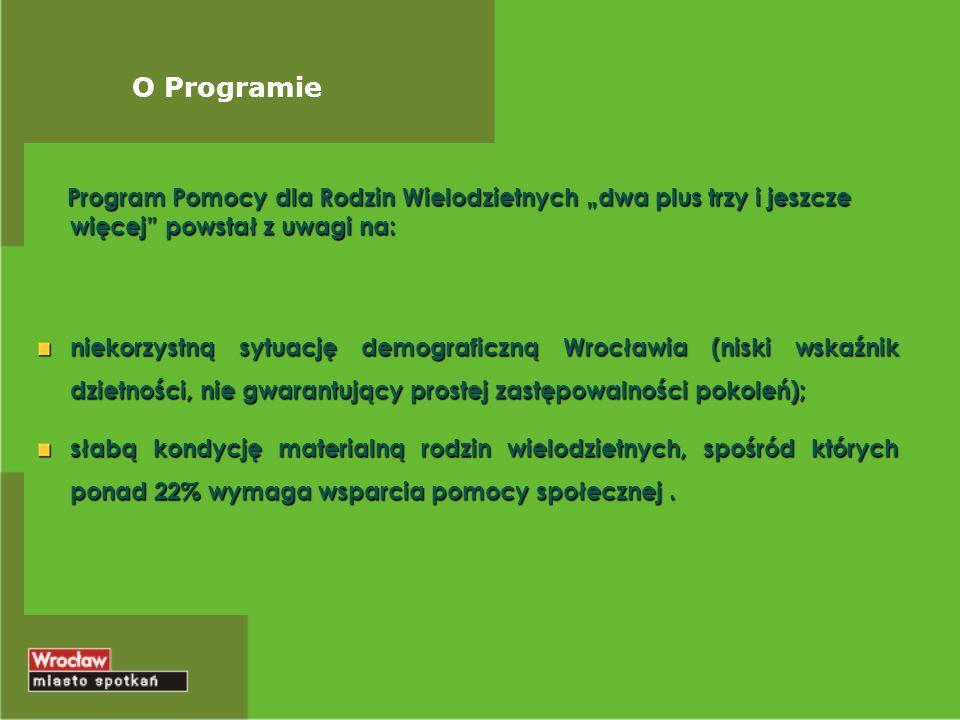 Cele Programu Promowanie modelu rodziny z dziećmi i pozytywnego wizerunku Rodziny Wielodzietnej.
