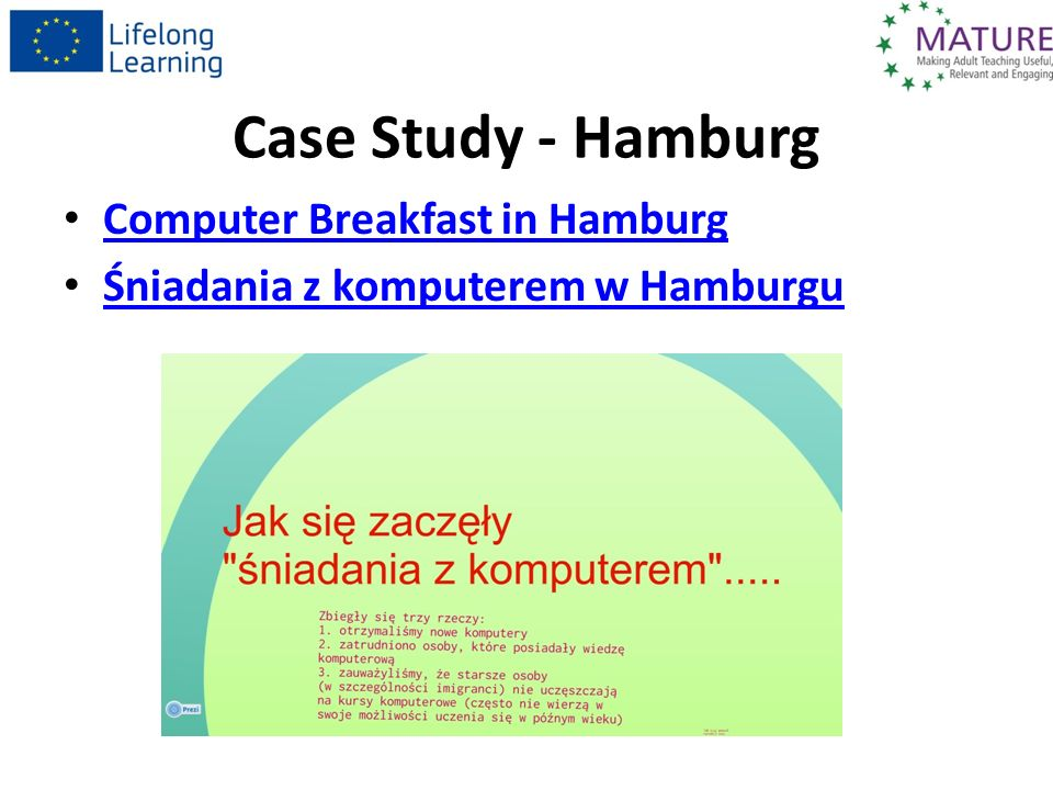 Case Study - Hamburg Computer Breakfast in Hamburg Computer Breakfast in Hamburg Śniadania z komputerem w Hamburgu