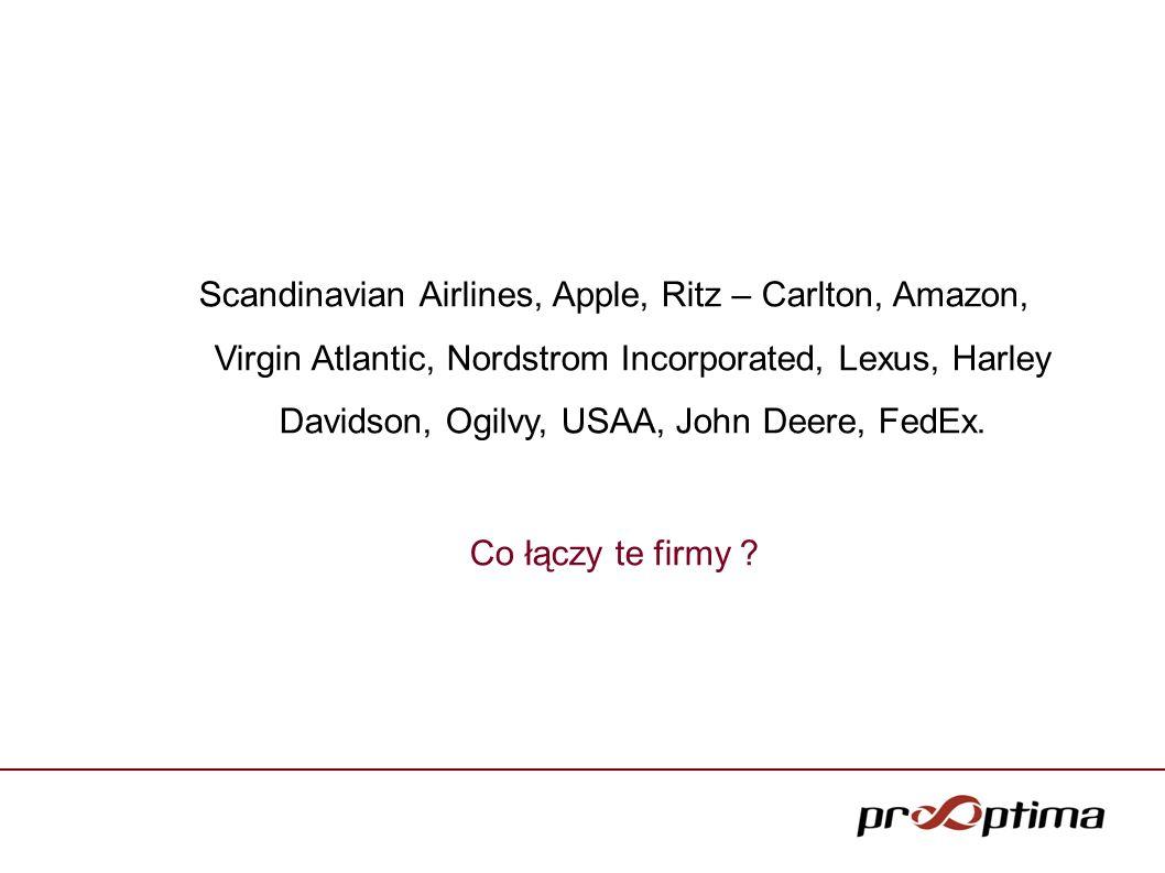 Scandinavian Airlines, Apple, Ritz – Carlton, Amazon, Virgin Atlantic, Nordstrom Incorporated, Lexus, Harley Davidson, Ogilvy, USAA, John Deere, FedEx