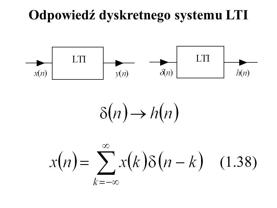(1.38) Odpowiedź dyskretnego systemu LTI