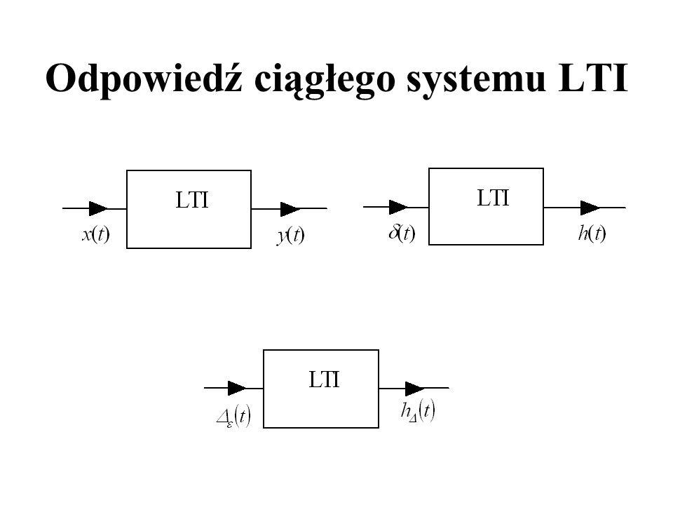 Odpowiedź ciągłego systemu LTI