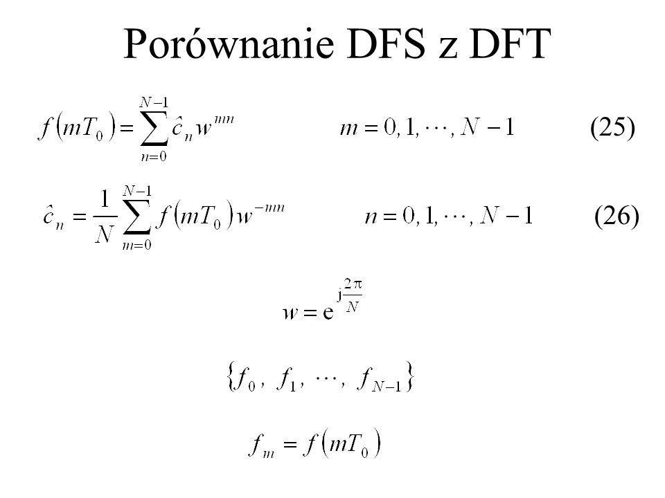 Porównanie DFS z DFT (25) (26)