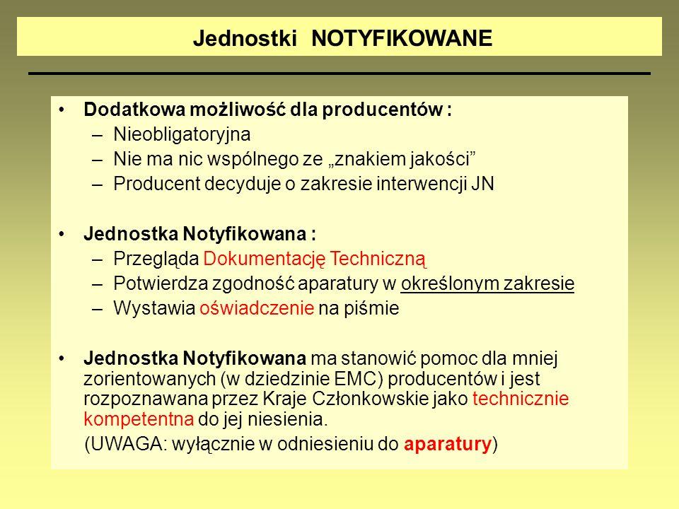 Dodatkowa możliwość dla producentów : –Nieobligatoryjna –Nie ma nic wspólnego ze znakiem jakości –Producent decyduje o zakresie interwencji JN Jednost