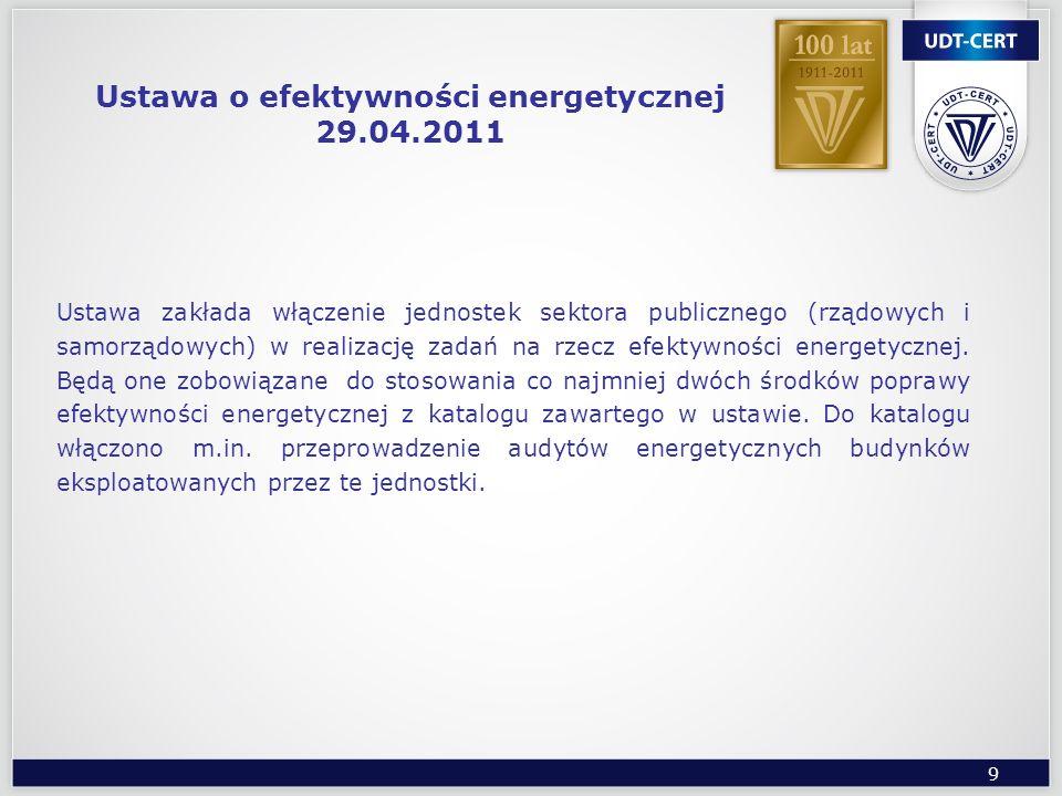 9 Ustawa zakłada włączenie jednostek sektora publicznego (rządowych i samorządowych) w realizację zadań na rzecz efektywności energetycznej. Będą one