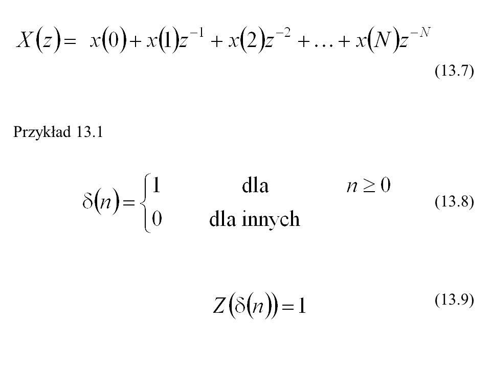 Przykład 13.1 (13.7) (13.8) (13.9)