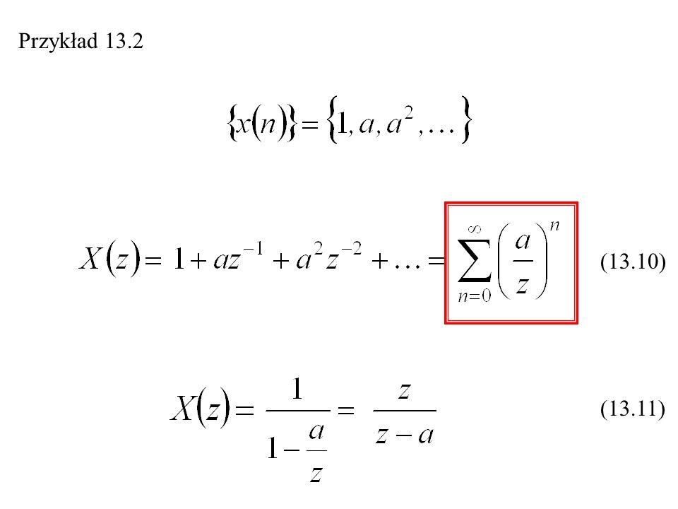 Odwrotna transformacja Z Przykład 13.6