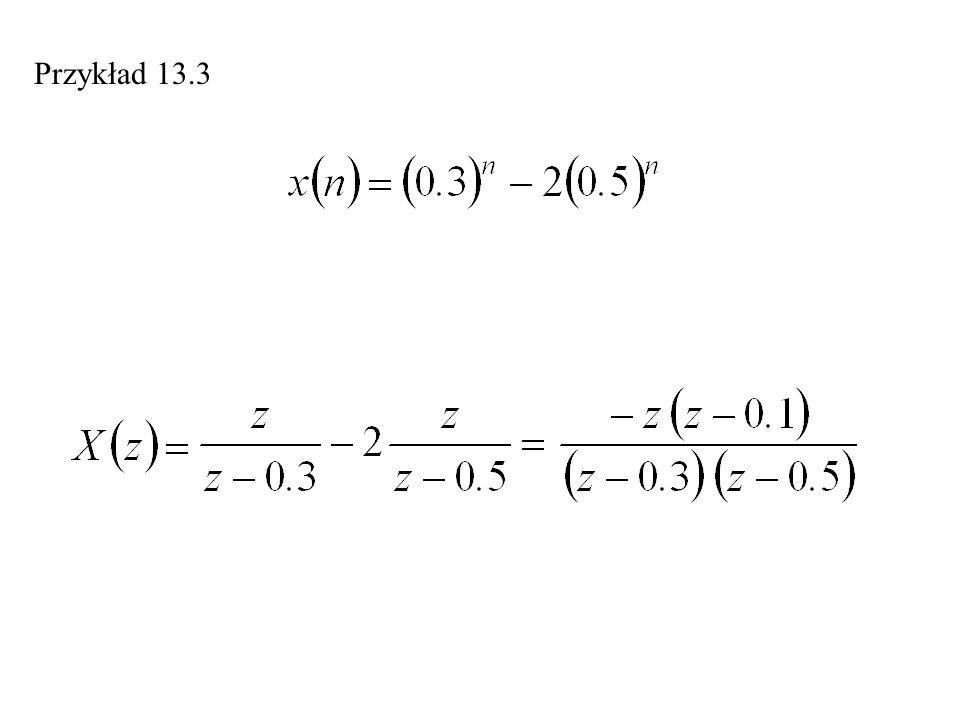 Rozwiązywanie równań różnicowych Przykład 13.11